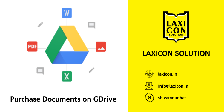Purchase Documents on GDrive by Laxicon Solution